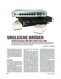 Gallien-Krueger MB 500 & MB Fusion 500, Bass-Topteile
