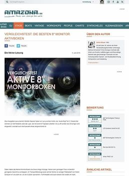"Vergleichstest: aktive 8"" Monitorboxen, the box MA 8/2 CL, Artec PMD 3-8, LD Systems Mon81A G2, dB Technologies Cromo 8+, dB Technologies Flexsys FM8"