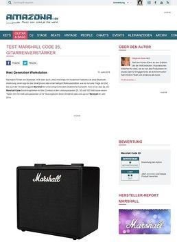 Test: Marshall Code 25, Gitarrenverstärker