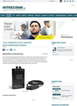 Test: Presonus HP2, Mobiler Kopfhörerverstärker