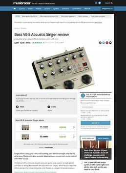 Boss VE-8 Acoustic Singer