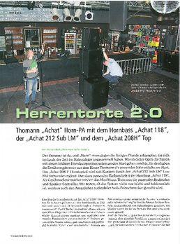 Herrentorte 2.0 - Thomann Achat 118, Achat 212 Sub LM und Achat 208H