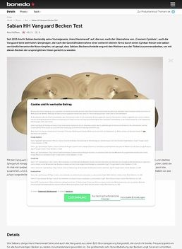 Sabian HH Vanguard Becken Test