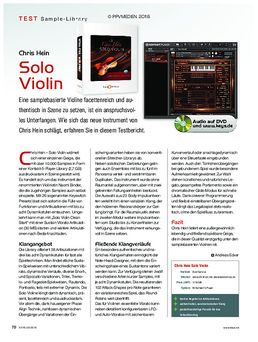Chris Hein Solo Violin