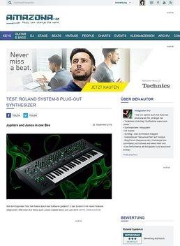 Test: Roland System-8, Synthesizer