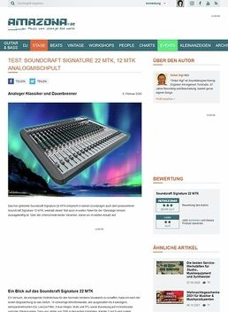 Test: Soundcraft Signature 22 MTK, Mischpult
