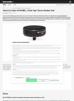 "Tama 1st Chair HT430BC ""Cloth Top"" Drum Hocker"
