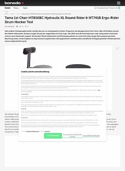 Tama 1st Chair HT850BC Hydraulix XL Round Rider & HT741B Ergo-Rider Drum Hocker