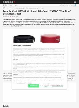 """Tama 1st Chair HT830R XL """"Round Rider"""" und HT530BC """"Wide Rider"""" Drum Hocker"""
