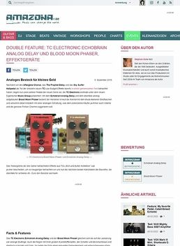 TC Electronic Echobrain Analog Delay und Blood Moon Phaser