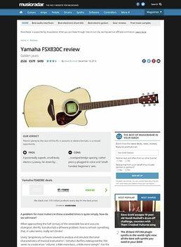 Yamaha FSX830C