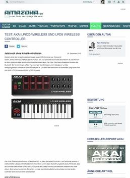 AKAI LPK25 Wireless und LPD8 Wireless Controller
