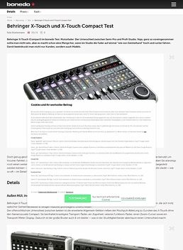 Behringer X-Touch und X-Touch Compact