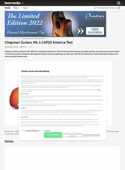 Chapman Guitars  ML-1 CAP10 America