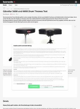 Gibraltar 5608 und 6608 Drum Thrones