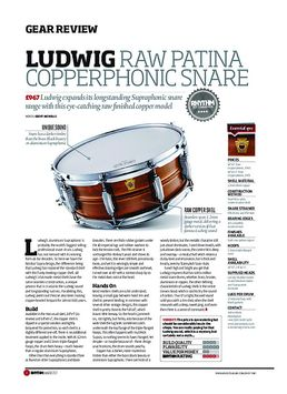 Ludwig Raw Oatina Copperphonic Snare