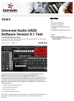 Universal Audio UAD Software Version 9.1 Test