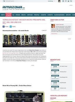 Mooer Micro Preamps 006, 007, 008, 009 und 010