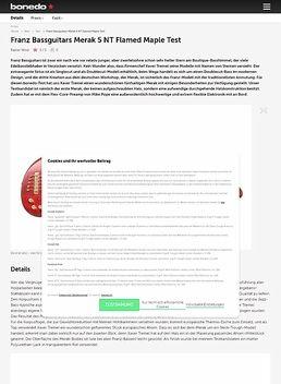Franz Bassguitars Merak 5 NT Flamed Maple