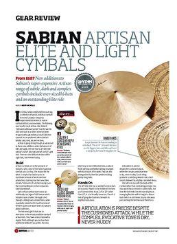Sabian Artisan Elite and Light Cymbals