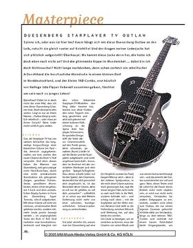 Masterpiece! Duesenberg Starplayer TV Outlaw, E-Gitarre