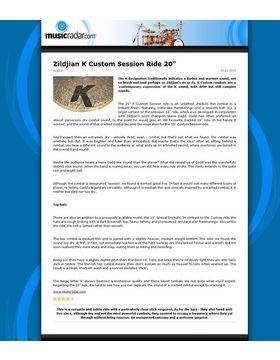 Zildjian K Custom Session Ride 20