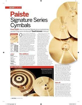 Paiste Signature Series Cymbals