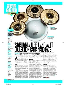SABIAN ALU BELL AND VAULT COLLECTION RADIA NANO HATS