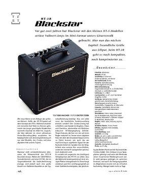 Blackstar HAT-1R, Röhren-Combo
