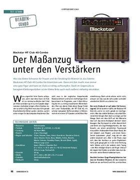 Test Gitarren-Combo: Blackstar HT Club 40 Combo