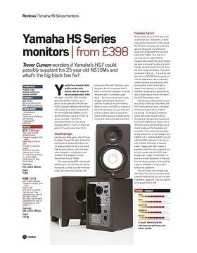Yamaha HS Series monitors