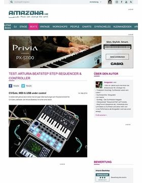 Test: Arturia Beatstep Step-Sequencer & Controller