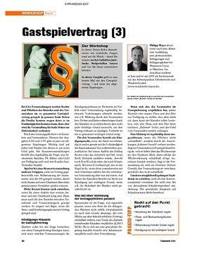 Workshop: Recht - Gastspielvertrag (3)