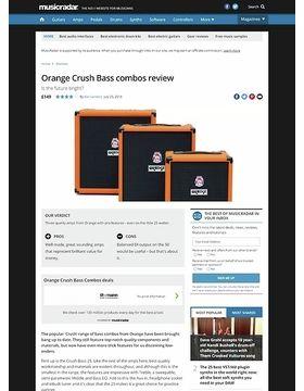 Orange Crush Bass combos