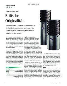 Aston Origin & Spirit