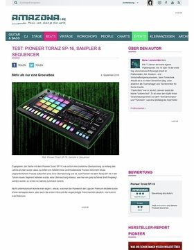 Special: Pioneer Toraiz SP-16, Sampler & Sequencer