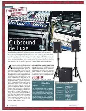 Test: Maximum Check (Clubsound) – Clubsound de Luxe