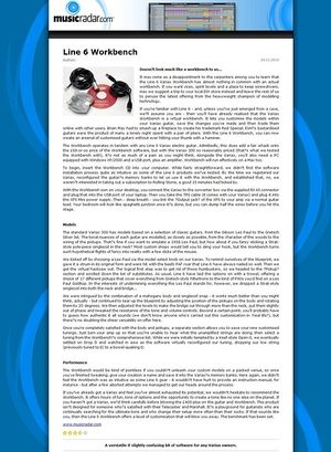 MusicRadar.com Line 6 Workbench