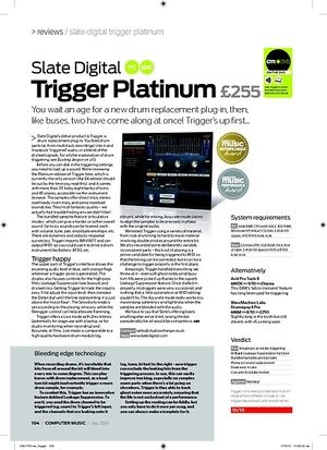 Computer Music Slate Digital Trigger Platinum