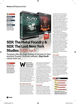 Future Music SDX: The Metal Foundry and SDX: The Lost New York Studios