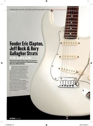 Guitarist Rory Gallagher Tribute Strat