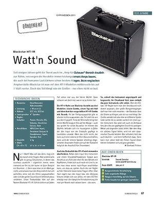 Soundcheck Test: Blackstar HT-1R - Watt'n Sound