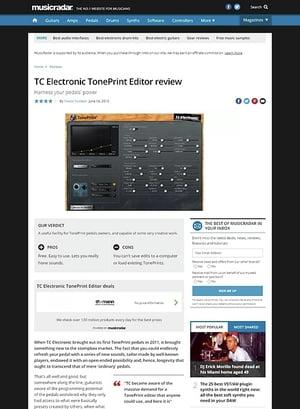 MusicRadar.com TC Electronic TonePrint Editor