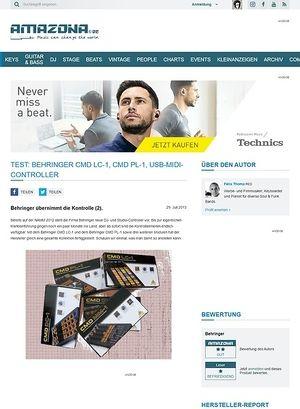 Amazona.de Test: Behringer CMD LC-1, CMD PL-1, USB-MIDI-Controller