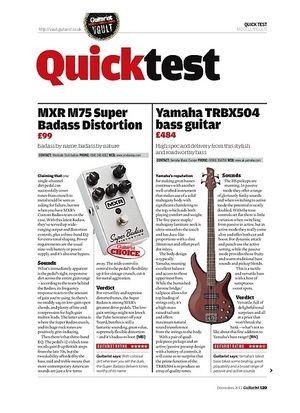 Guitarist MXR M75 Super Badass Distortion