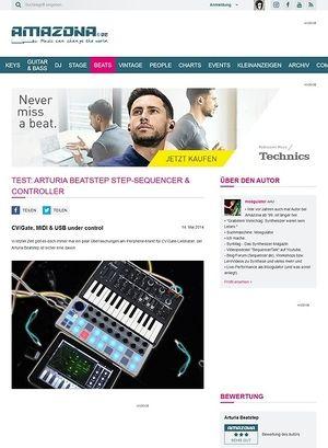 Amazona.de Test: Arturia Beatstep Step-Sequencer & Controller