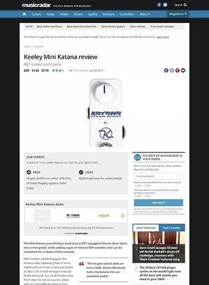 MusicRadar.com Keeley Mini Katana
