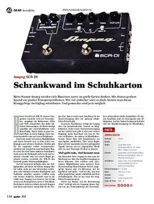 Guitar Ampeg SCR-DI