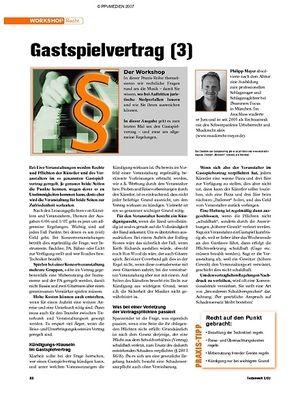 Tastenwelt Workshop: Recht - Gastspielvertrag (3)