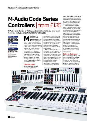 Future Music M-Audio Code Series Controllers